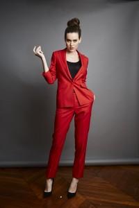 Tailleur pantalon rouge Artling